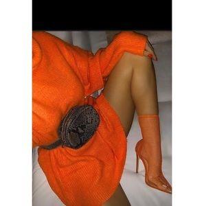 Orange over size sweater